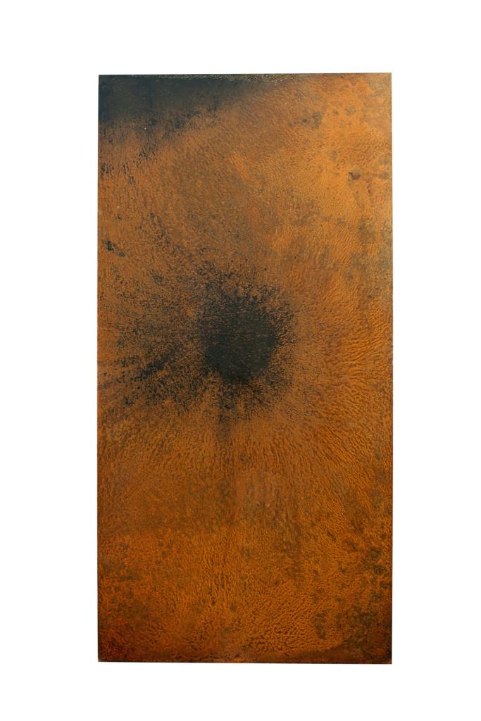 """""""Nibiru III"""" 2011. Roestig staal. L 100cm, B 50cm."""