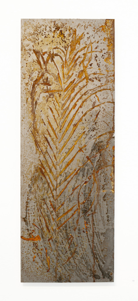 """Fossus VIII"" 2011. Roestvorming, staal. L 83cm, B 30cm."