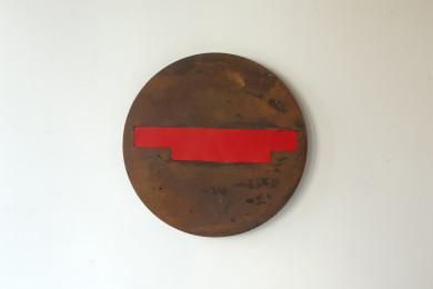 Tokyo II, 2016. Staal, zink, verf. L 45cm B 45cm D 4cm.