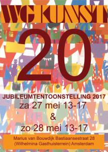affiche JUBILEUMTENTOONSTELLING WG Kunst 20